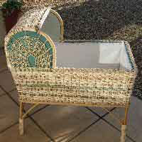 Hand Made Rattan Cot.