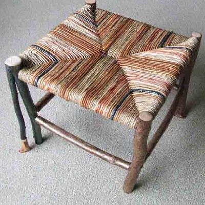 Hand made hazel footstool.